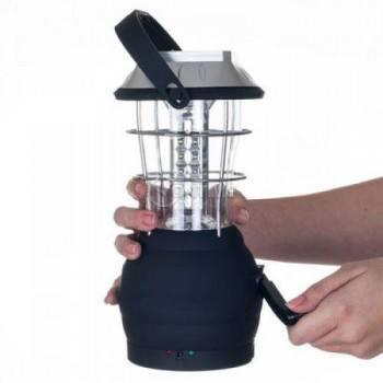 Мощна LED лампа с 36 диода соларен панел и динамо