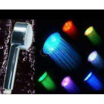 Светеща LED душ слушалка в 3 цвята без батерии
