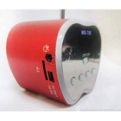 Мини високоговорител с вградено радио и МР3 плейър - WS-758