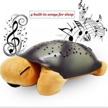 Нощна лампа костенурка - музикална и проектира звезди