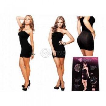 LipoDress 3 в 1 стягаща малка черна рокля потник и сутиен