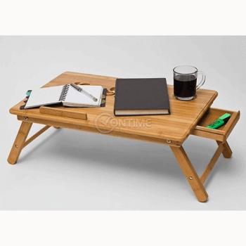 Бамбукова маса за лаптоп с вградени охладители