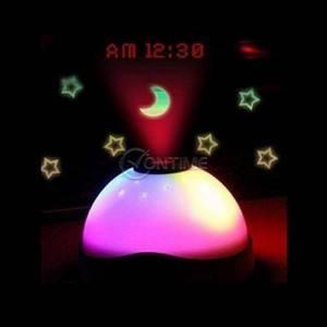 Магически часовник - лампа с аларма, проектиращ звезди и час