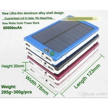 Соларна POWER BANK батерия 50000mAh с мощна лед лампа
