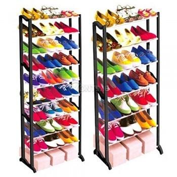 Подвижен стелаж за до 30 чифта обувки AMAZING SHOES RACK 140 х 50см