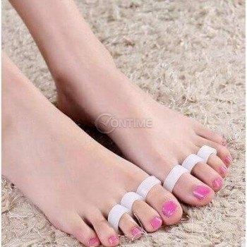Силиконов разделител за красиви и прави пръсти на краката