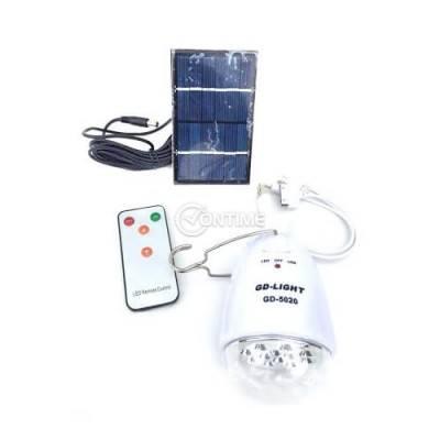 Соларна лед лампа с дистанционно и акумулаторна power bank батерия