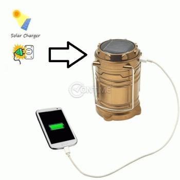 Соларна лампа с usb изход и фенер