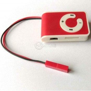 MP3 плеър за преписване с магнитни микрослушалки