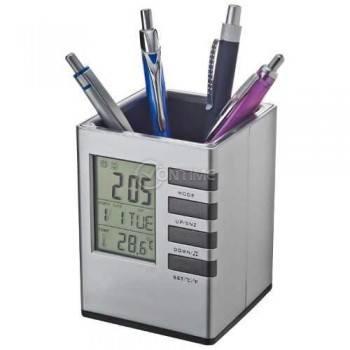 Моливник – електронен часовник с термометър и будилник