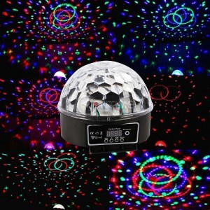 LED лампа - кълбо с вградени тонколонки - LED Magic Ball Light