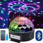 LED лампа - кълбо с вградени тонколонки USB/TF - LED Magic Ball Light
