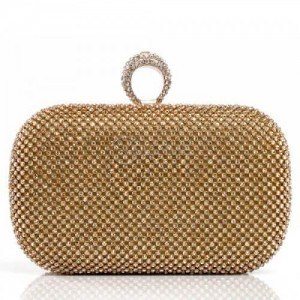 Дамска чанта клъч с камъни