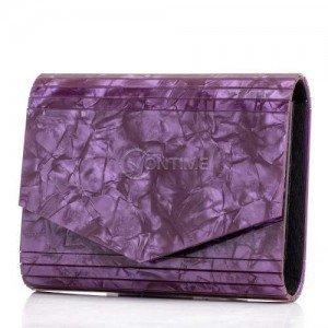 Дамска чанта тип плик в лилаво