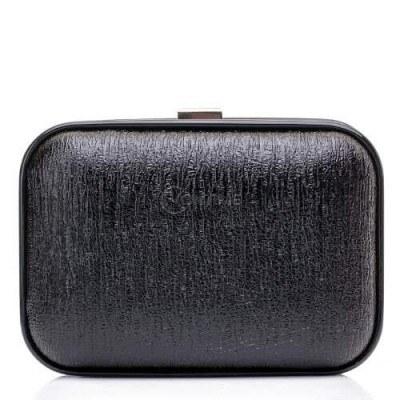 Малка дамска чанта от черна кожа