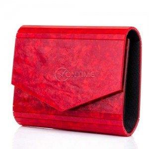 Дамска чанта тип плик в червено