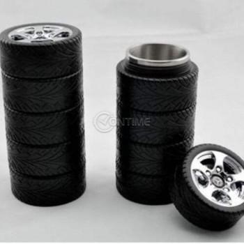 Термо чаша във формата на автомобилни гуми
