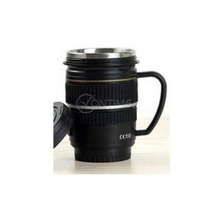 Термо чаша за кафе обектив с дръжка
