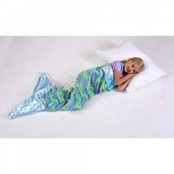 Детско одеяло от много мека материя във форма на русалка