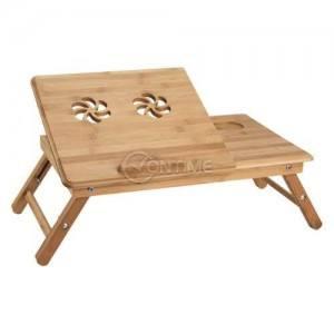 Поставка за лаптоп от бамбук с голям размер