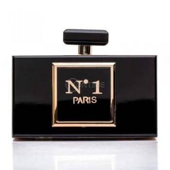Стилна дамска чанта с форма на френски парфюм