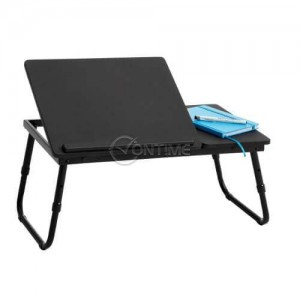 Масичка за лаптоп за легло с два плота и възможност за регулиране на височината