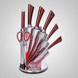 Кухненски ножове комплект в червен цвят от 8 части Royalty Line