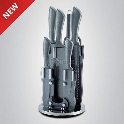 Комплект кухненски ножове с точило и стойка Royalty Line от 8 части