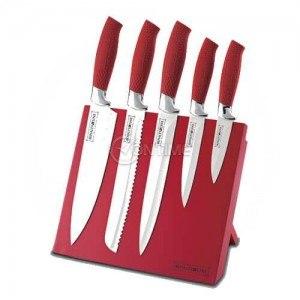 Комплект ножове с незалепващо покритие и магнитна поставка Royalty Line