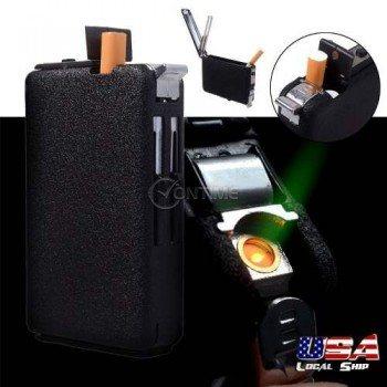 Автоматична табакера за цигари със запалка