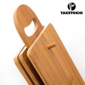 Комплект бамбукови дъски за рязане и поставка TAKETOKIO