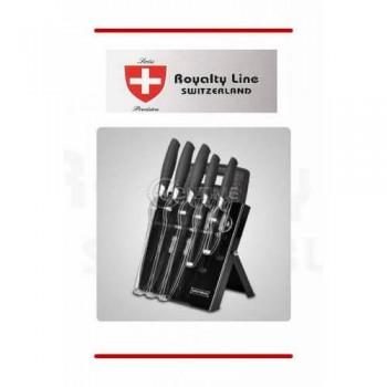 Royalty Line комплект 5 броя ножове с дъска и поставка