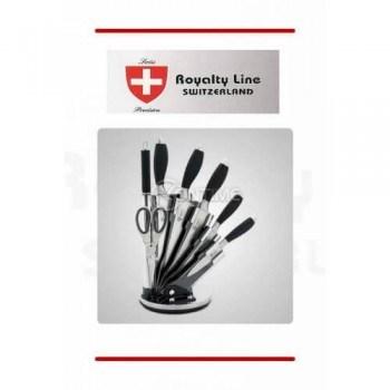 Royalty Line кухненски ножове 5 броя + стойка ножица и точило