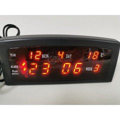 Дигитален часовник с термометър и аларма за събуждане
