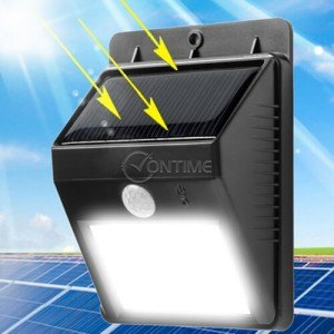 Соларна LED лампа със сензор за движение