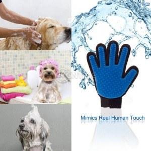 Ръкавица True Touch за масаж и премахване на излишни косми от домашни любимци