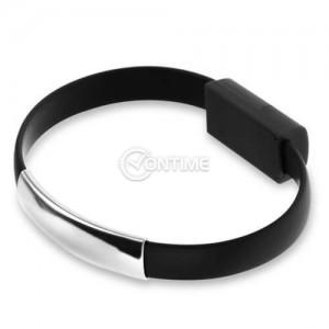 Micro USB кабел във форма на гривна за ръка за пренос на данни и зареждане
