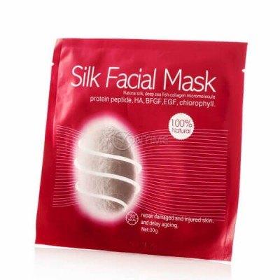 Копринена маска за лице с колаген за увредена кожа