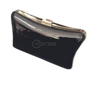 Черна дамска лачена чанта клъч