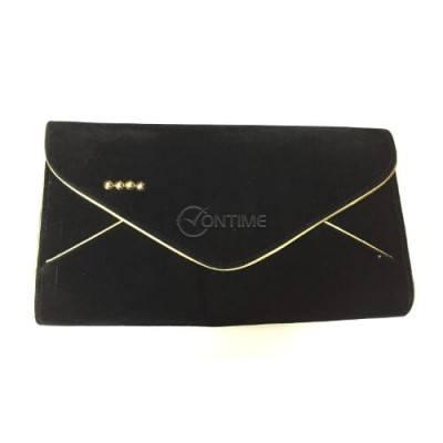 Чанта черен плик велур