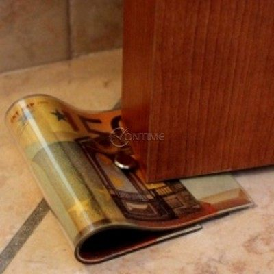 Стопер за врата във форма на банкнотa от 50 евро