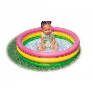 Надуваем детски басейн Intex в 3 цвята 86 см х 25 см