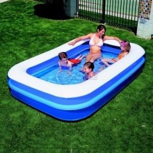Правоъгълен надуваем детски басейн Bestway с голям размер 2.62 х 1.75 х 51 см.