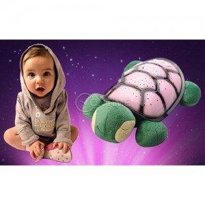 Детска нощна лампа костенурка прожектираща звезди