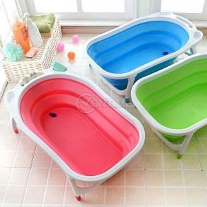 Сгъваема вана за бебе с крачета и сифон