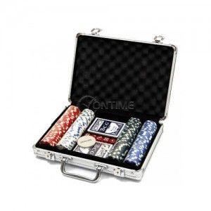 Комплект за покер с 200 чипа и метален куфар