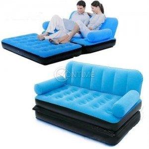 Надуваем диван легло с помпа