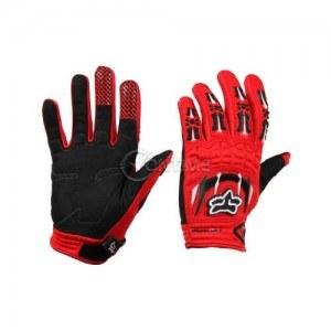 Dirtpaw мото ръкавици в черно червен цвят