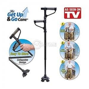 Сгъваем бастун с фенер за лесно изправяне и сядане Get up and Go cane