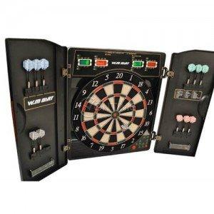 Електронен дартс в луксозна сгъваема стойка за стена различни игри и турнири